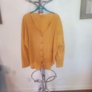 Liberty Love Plus size 2x button up yellow sweater